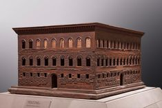 Model of Palazzo Strozzi, Carved wood, x x 117 x cm. Architecture Drawings, Classical Architecture, Architectural Elements, Architectural Models, Art Moderne, Grand Tour, 15th Century, Palazzo, Home Art
