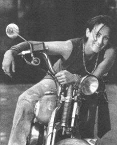 KD Lang could take apart her motorcycle and fix it by the time she was just nine years old, thanks to her father. Her affinity for two-wheels is still evident today, as she can be spotted riding her vintage Triumph to her gigs.