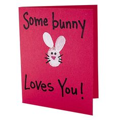Adorable card. We could do this for Easter from Tayler :) You make the bunny with her thumbprint :P Even Father's Day! or Grandparents day! It's cute!