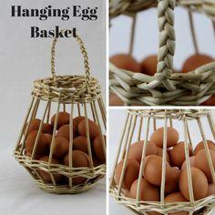 Egg Basket, Paper Basket, Rattan Basket, Wall Basket Storage, Basket Weaving Patterns, Egg Packaging, Diy Rack, Willow Weaving, Bamboo Crafts
