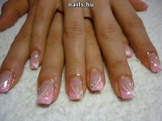 Opting for bright colours or intricate nail art isn't a must anymore. This year, nude nail designs are becoming a trend. Here are some nude nail designs. Glitter French Nails, French Nail Art, French Tip Nails, Fancy Nails, Pink Nails, Pretty Nails, Nail Tip Designs, French Nail Designs, Nail Polish Designs
