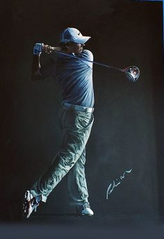 Rory McIlroy portrait by Mark Robinson - Sold
