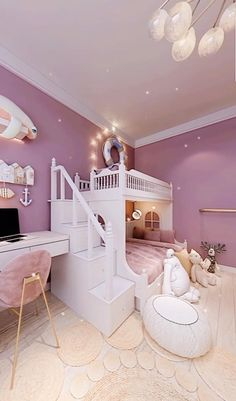 Small Room Design Bedroom, Baby Room Design, Girl Bedroom Designs, Room Ideas Bedroom, Home Room Design, Baby Room Decor, Girls Bed Room Ideas, Luxury Kids Bedroom, Cool Kids Bedrooms