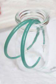 Super Big Mint Circles Earrings
