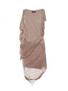 Religion Clothing Dress Cleansing With Faggoting In Taupe. Ellie Saab, Modern Fashion, High Fashion, Fashion Design, Valentino, Dress Outfits, Dress Up, Religion Clothing, Jesus Christ Superstar