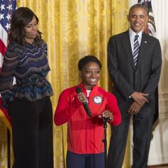 #President Of The United States 🇺🇸 #BarackObama & #FirstLady Of The United States 🇺🇸 #MichelleObama welcomed the #2016 #US #Olympic and #Paralympic #teams to the #WhiteHouse on Thursday #September29th #2016 to #celebrate their #recordbreaking #run in #Rio #goldmedal #winning #gymnast #Simone Biles