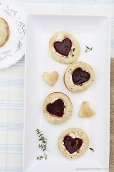Beet and Goat Cheese Puff Pastry Love Bites