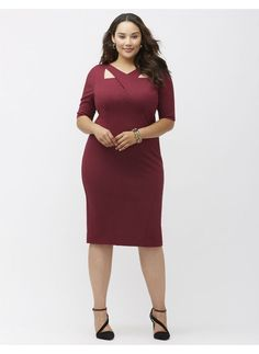 Office Chic | Cut-out bodycon dress (plus size) sizes 14-28