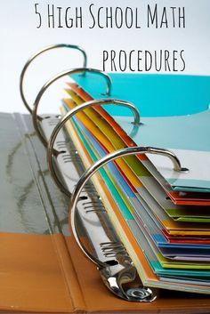 5 High School Math Procedures