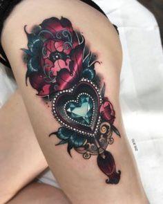 50 Unique Steampunk Tattoo Ideas - New Tatto Designs 2 .- 50 einzigartige Steampunk Tattoo-Ideen – Neu Tatto Designs 2018 Steampunk tattoo on foot - 1000 Tattoos, 3d Tattoos, Badass Tattoos, Cover Up Tattoos, Sexy Tattoos, Body Art Tattoos, Tattoos For Women, Sleeve Tattoos, Tatoos