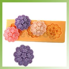 3 Cavity Flower DIY Mold Silicone Muffin Maker Jello Handmade Soap Candle Mould