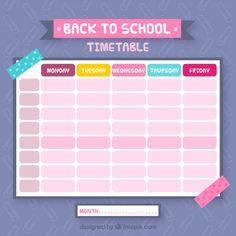 Class Schedule Template, Timetable Template, Planner Template, Online Calendar, Diy Calendar, School Calendar, Kids Going To School, School Timetable, Calendar Activities