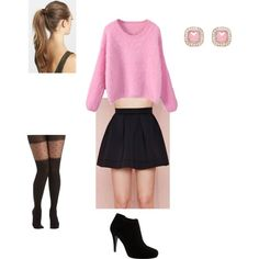 """Girls Night Out Valentines Day Outfit"" by missrouhi on Polyvore"