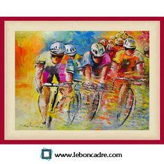 Le Tour de France 2014 avec www.leboncadre.com Oeuvre de Miki de Goodaboom