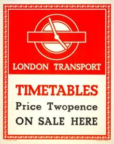 London Transport Timetables by unknown artist, 1947