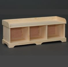 3 Cubby Bench  