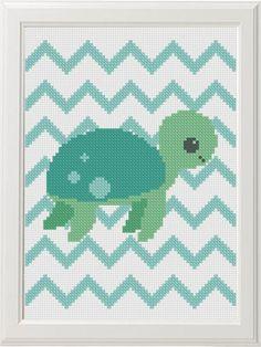 I/'m A Little Slow Turtle Funny Sassy Cross Stitch Pattern