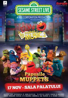 Papusile Muppets - Sesame Street Live - Elmo Makes Music - 17 Nov 2015
