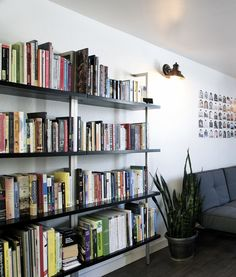 Super Clean Wall Mounted Bookcase In Excellent Condition Description Up Against The