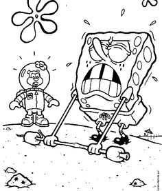 Spongebob Raised Wooden Coloring Page