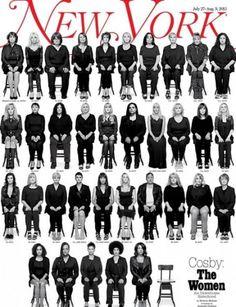 In fondo a destra, una sedia ancora vuota, per chi avrà il coraggio di farsi avanti, combattendo la vergogna. #NewYorkMagazine #BillCosby