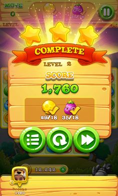 Garden Mania 2 - Match 3 Game - iOS Game - Android Game - UI - Game Interface - Game HUD - Game Art