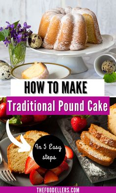 This Pound Cake is easy to make from scratch and it's so good that you want to make it again and again.You only need few ingredients and few minutes to make this old-fashion and delicious cake. Check the recipe and bake your perfect pound cake from scratch with our advice and tips. #poundcake #cake #baking Perfect Pound Cake Recipe, Easy Pound Cake, Pound Cake Recipes, Savory Breakfast, Breakfast Recipes, Dessert Recipes, Easy Summer Meals, Summer Recipes, Cake Recipes From Scratch