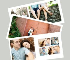 rounded corner square album template for whcc - simple, classic layout - for photographers or scrapbookers. $20.00, via Etsy.