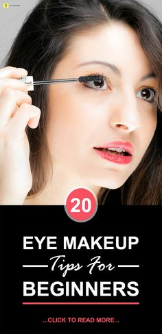 Are you a beginner in applying eye makeup? Here are 20 simple and amazing eye makeup tips for beginners that will take you from being a starter to a star. Look on to know Basic Eye Makeup, Applying Eye Makeup, Hooded Eye Makeup, Contour Makeup, Eye Makeup Tips, Simple Makeup, Beauty Makeup, Makeup Ideas, Makeup Tutorials