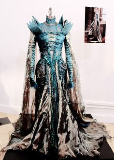 Beetlewing embroidery on a dress from the movie Snow White and the Huntsman - designed by Colleen Atwood.
