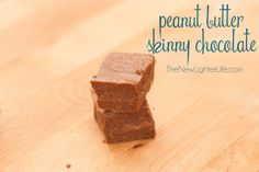 Peanut Butter Skinny Chocolate 1/2 c. coconut oil 1/4 c. unsweetened cocoa powder 1/2 c. natural peanut butter, unsweetened 4 1/2 Tbsp Xylitol, powdered 1 Tbsp vanilla 1/4 tsp sea salt Directions: Mix all the ingredients in a bowl.  If your coconut oil is at a solid, heat gently to make stirring easier.  Pour in to a glass dish, refrigerate for a couple hours before cutting.