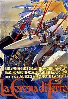 La corona de hierro (1941). Sedemondo asesina a su hermano, el rey Licinio, para usurparle el trono. Consumado su plan, Sedemondo encuentra en el bosque a una  anciana que le vaticina atroces desgracias en su nuevo reinado. Preocupado, abandona en el valle de los leones al pequeño hijo de Licinio, pero los feroces animales, en vez de matarlo, lo crían como a uno de ellos. http://encore.ehu.es/iii/encore/record/C__Rb1810257__Scorona%20de%20hierro__Orightresult__U__X4?lang=spi&suite=cobalt