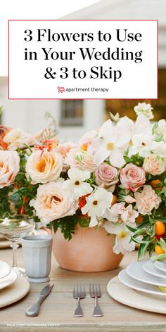 We asked two florists for the deets on several flower varieties. This way, you can make sure the only thing wilting on your wedding day is your guests' makeup as they cry with happiness. #wedding #weddings #weddingdecor Floral Wedding, Diy Wedding, Wedding Favors, Wedding Flowers, Wedding Decorations, Wedding Ideas, Wedding Makeup, Big Flowers, Types Of Flowers