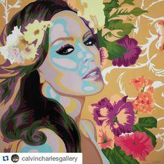 "#ElisabettaFantone Elisabetta Fantone: #Repost @calvincharlesgallery with @repostapp ・・・ New work by Artist Elisabetta Fantone has arrived! ""Kylie Minogue"", mixed media, 36""x 36"" #calvincharlesgallery #painting #popart #contemporaryart #KylieMinogue @KylieMinogue #igers #love #instaart #portrait #flowers #art #gallery"