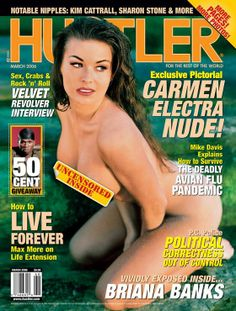 #throwbackthursday mesmerizing Carmen Electra on the cover of Hustler mag along with Velvet Revolver interview and 50CENT giveaway! #tbt