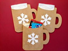 Items similar to Hot Cocoa Pouch, Hot Chocolate Holder, Coworker Christmas Gifts, Treat Holders, Sno Christmas Treats For Gifts, Christmas Paper Crafts, Holiday Gift Tags, Christmas Wishes, Christmas Crafts, Christmas Chocolate, Hot Chocolate, Treat Holder, Neighbor Gifts