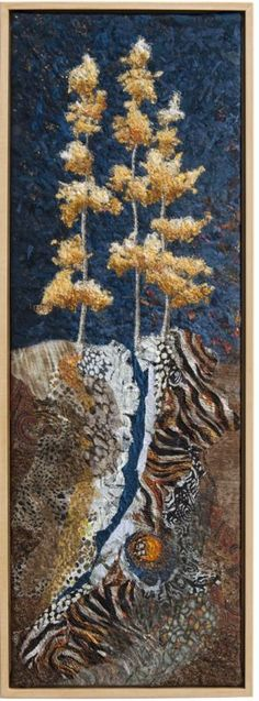 Golden Ridge - Lorraine Roy - gorgeous textile art piece!  I thought it was a textured acrylic at first.