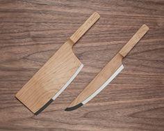 Maple wood set knives