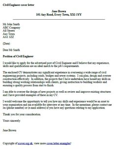 civil engineer cover letter example - Writing An Engineering Cover Letter