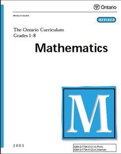 Ontario Math Curriculum