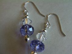 Sterling Silver Swarovski Crystal Earrings by ArtisticSparkle, $20.00