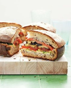 Grilled Ratatouille Sandwich | Use an artisan style bread.  A filling, meatless option.