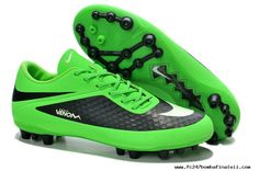 Authentic Lime/White/Black Nike Hypervenom Phantom AG Boots