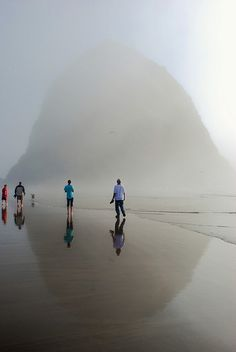 Haystack Rock, Oregon Coast.  Composed of basalt, Haystack Rock was formed by lava flows emanating from the Grand Ronde Mountains 10 to 17 million years ago.  The Haystack Rock tide pools are home to many intertidal animals, including starfish, sea anemone, crabs, chitons, limpets, and sea slugs. The rock is also a nesting site for many sea birds, including terns and puffins.
