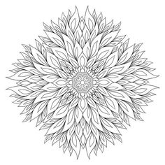 Adult Coloring pages: Just colored this in Pigment! Blank Coloring Pages, Mandala Coloring Pages, Printable Coloring Pages, Coloring Sheets, Coloring Books, Doodle Coloring, Zentangle Patterns, Colorful Pictures, Colored Pencils