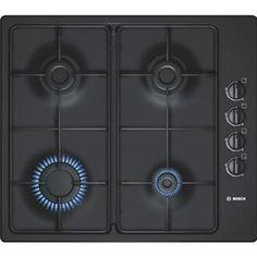 BOSCH - PBP616B80E _ Table de cuisson Gaz - 1 foyer rapide 3 kW - Allumage intégré aux manettes - Sécurité gaz par thermocouple - Grilles émaillées.