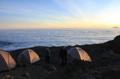 Sunset at the final camp site before summit morning. Early to bed and certainly early to rise! Kilimanjaro Climb, Campsite, Tanzania, Trekking, Outdoor Gear, Climbing, Africa, Tours, Explore