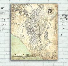 LONG BEACH NY Canvas Print Vintage map State New York City Ny