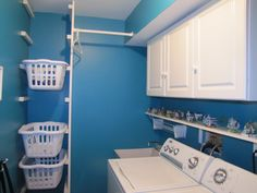 Laundry Basket storage system. *I would love a basket tower in my new laundry room