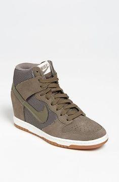 Nike 'Dunk Sky Hi' Wedge Sneaker (Women) Womens Green